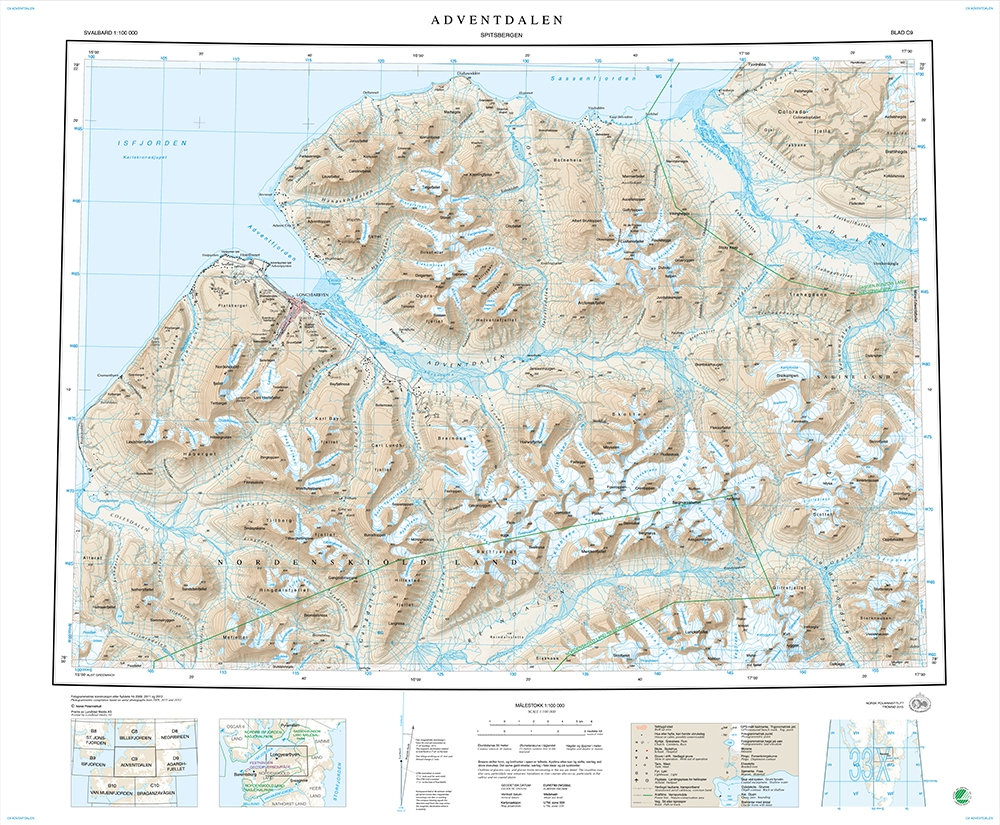 Spitzbergen Outdoor Maps