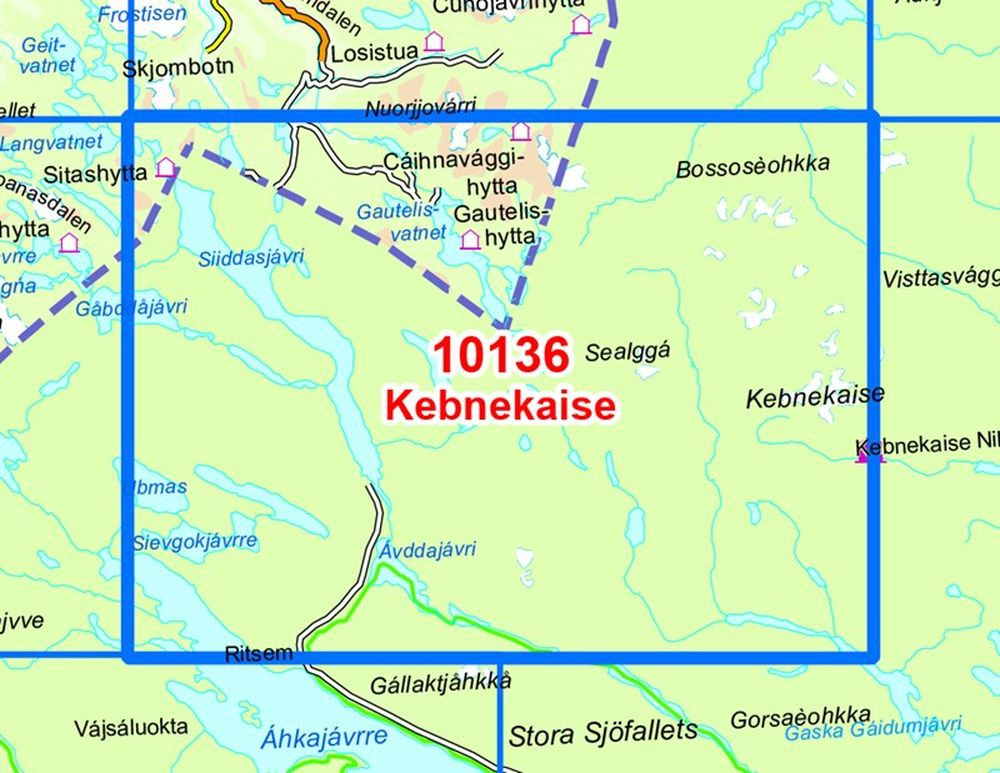 Kebnekaise Sweden HHking Map Nordeca No - Sweden map bd6