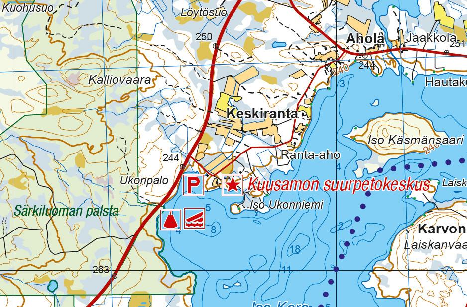 Finland Kuusamo 1100 000 Outdoor Map