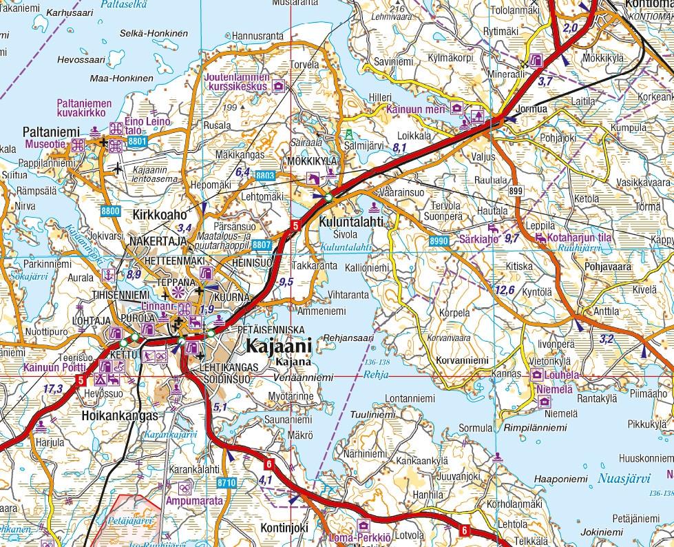 Finland Est Road Map 1 250 000 Gt Tierkartta Ita Suomi