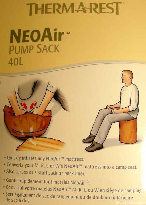 Nordic Rest Mattress Reviews NeoAir Pump Sack - Therm-A-Rest