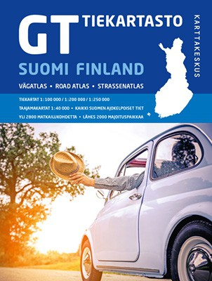 Finland Road map 1: 800 000