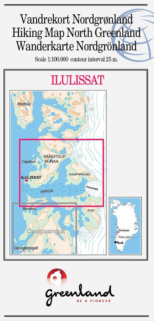 N° 12 - Ilulissat – North Greenland - Hiking Map – 1 :100 000