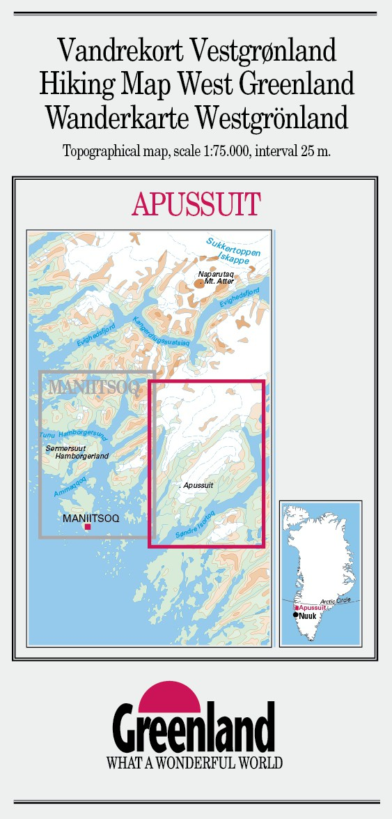 N° 13 - Apussuit – West Greenland - Hiking Map – 1 :75 000