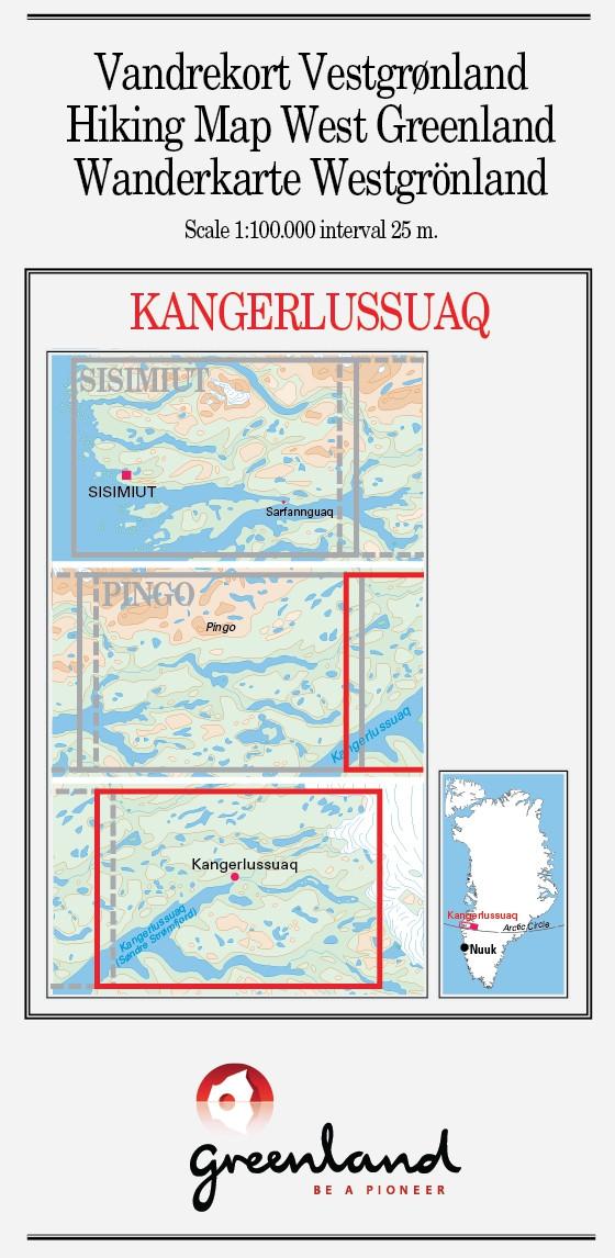 N° 8 - Kangerlussuaq – West Greenland - Hiking Map – 1 :100 000