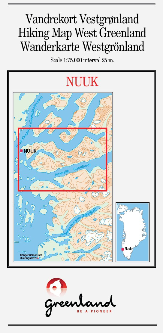 N 11 Nuuk West Greenland Hiking Map 1 75 000