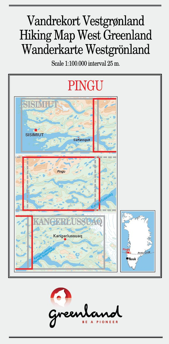 N° 9 - Pingu –West Greenland - Hiking Map – 1 :100 000