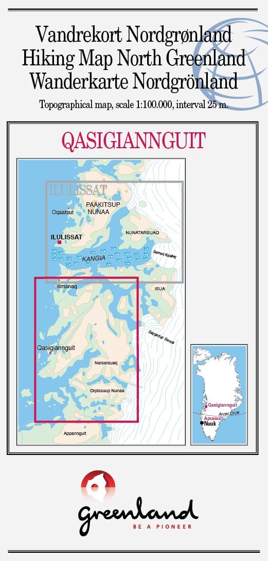 N° 17 - Qasigiannguit  – Groenland Nord – Carte de randonnée - 1 :100 000