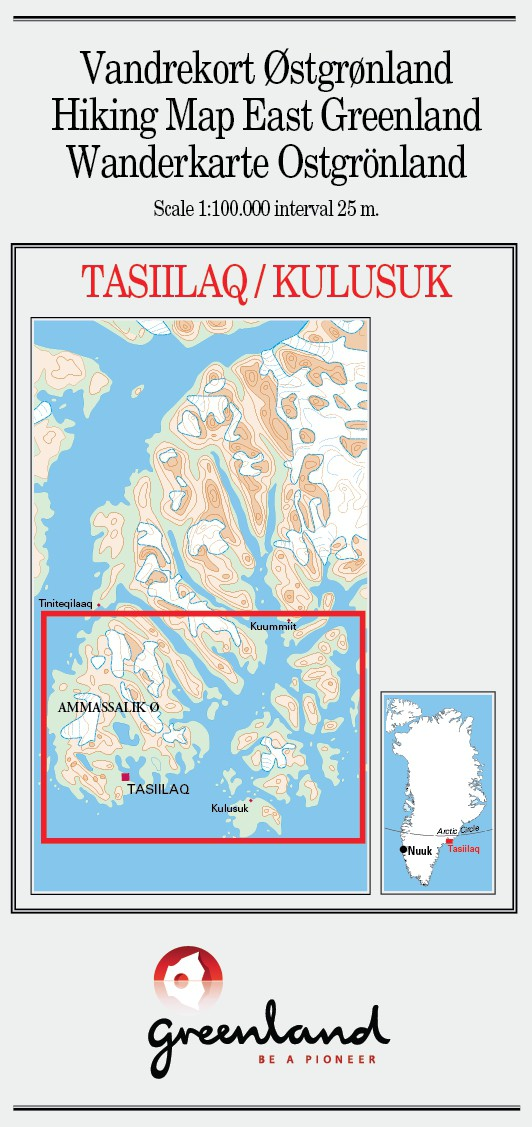 N° 6 - Tasiilaq/Kulusuk – East Greenland - Hiking Map – 1 :100 000