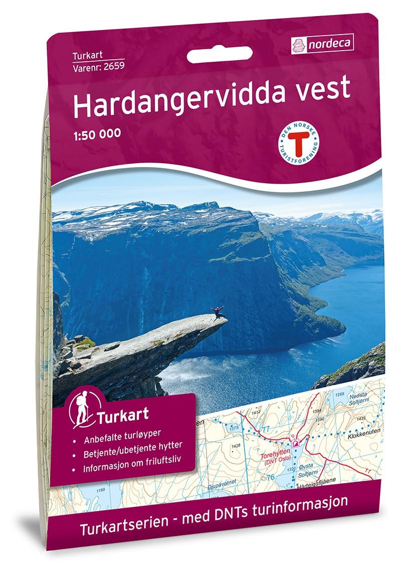 Hardangervidda Vest 1:50 000