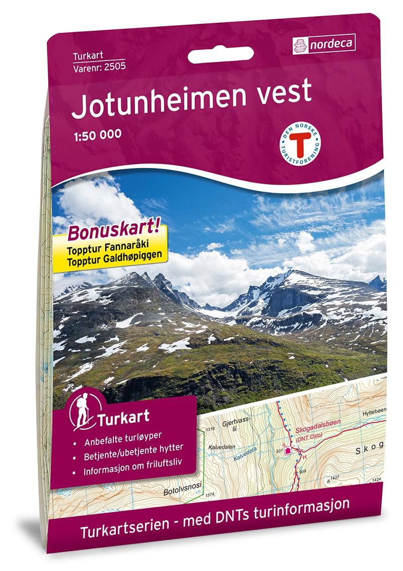 Jotunheimen Vest 1:50 000