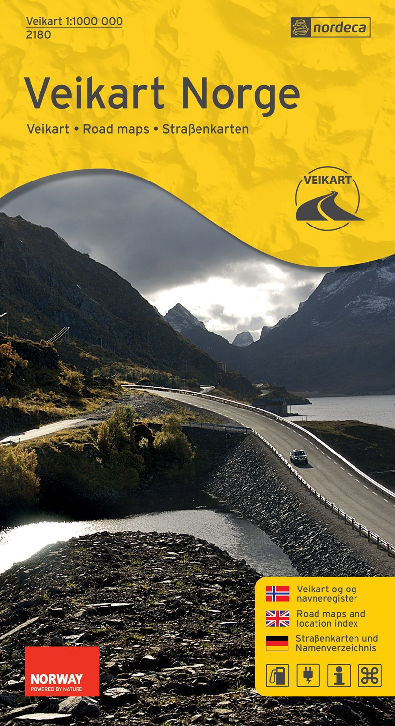 Road map Norway - Veikart Norge