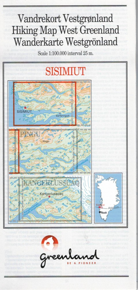 N° 10 - Sisimiut –West Greenland - Hiking Map – 1 :100 000