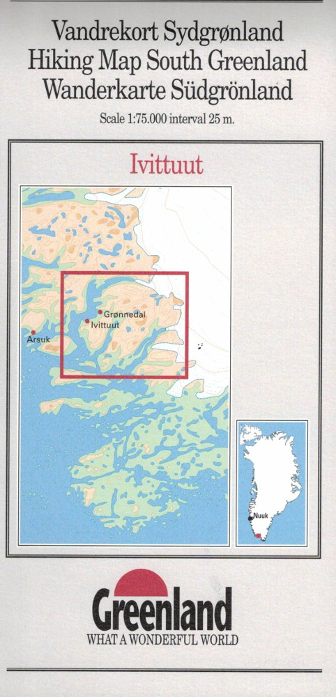 N° 4 - Ivittuut –South Greenland - Hiking Map – 1 :75 000