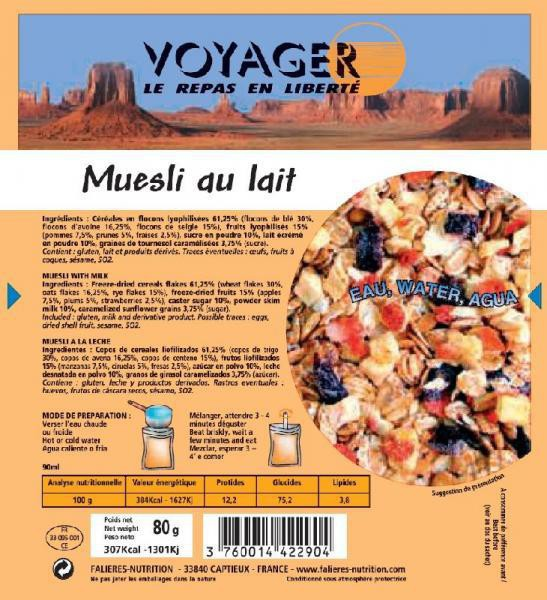 Muesli with milk- Voyager