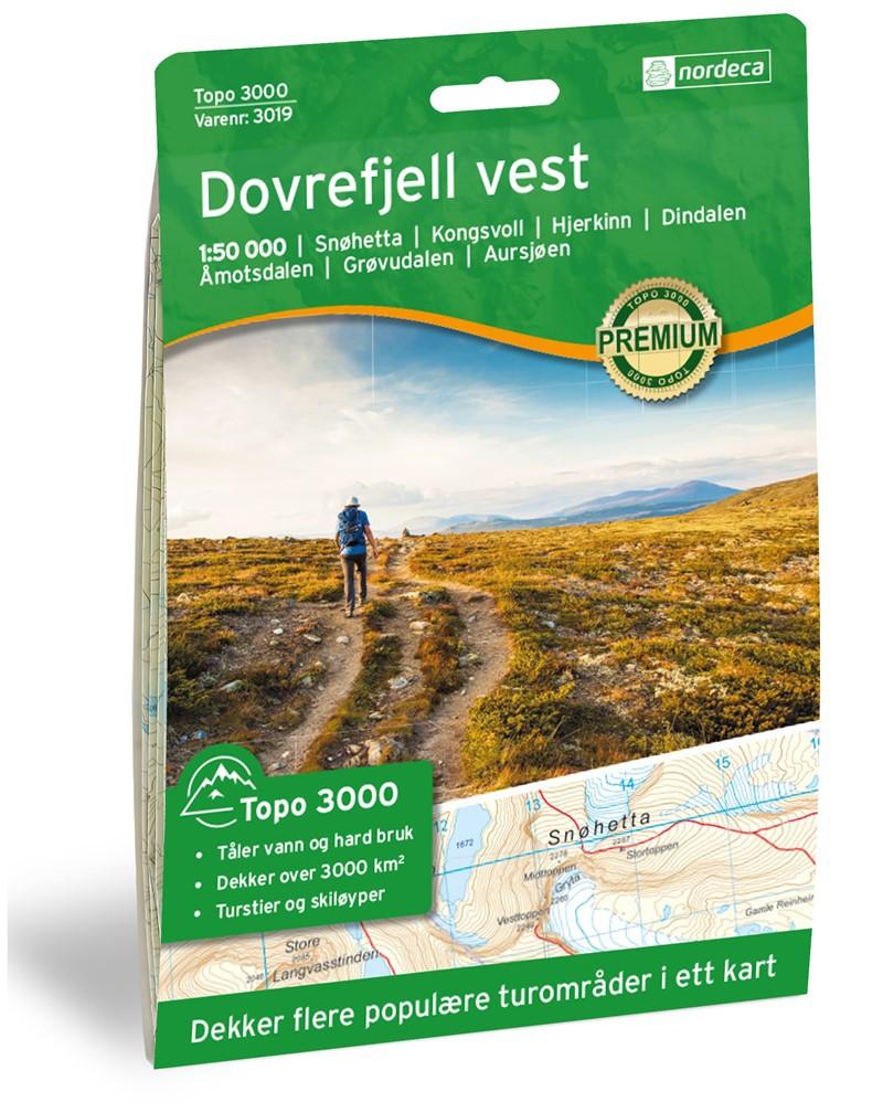 Dovrefjell Vest Sunndalsfjella 1:100 000