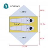 Dimensions Sierra Designs Clearwing 3000-2