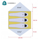 Dimensions Sierra Designs Clearwing 3000-3
