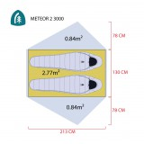 Dimensions Tente Sierra Designs Meteor 3000-2