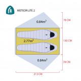 Dimensions Tente Sierra Designs Meteor Lite 2