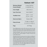 Dimensions Hilleberg Kaitum 3 GT