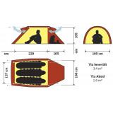 Dimensions Tente d'expédition Hilleberg Nammatj 3