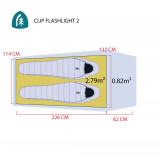 Dimensions Sierra Designs Clip Flashlight 3000-2