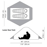 Dimensions Tente Six Moon Designs Lunar Duo Explorer