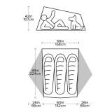 Dimensions Big Agnes Tiger Wall UL3 Bikepack Solution Dye