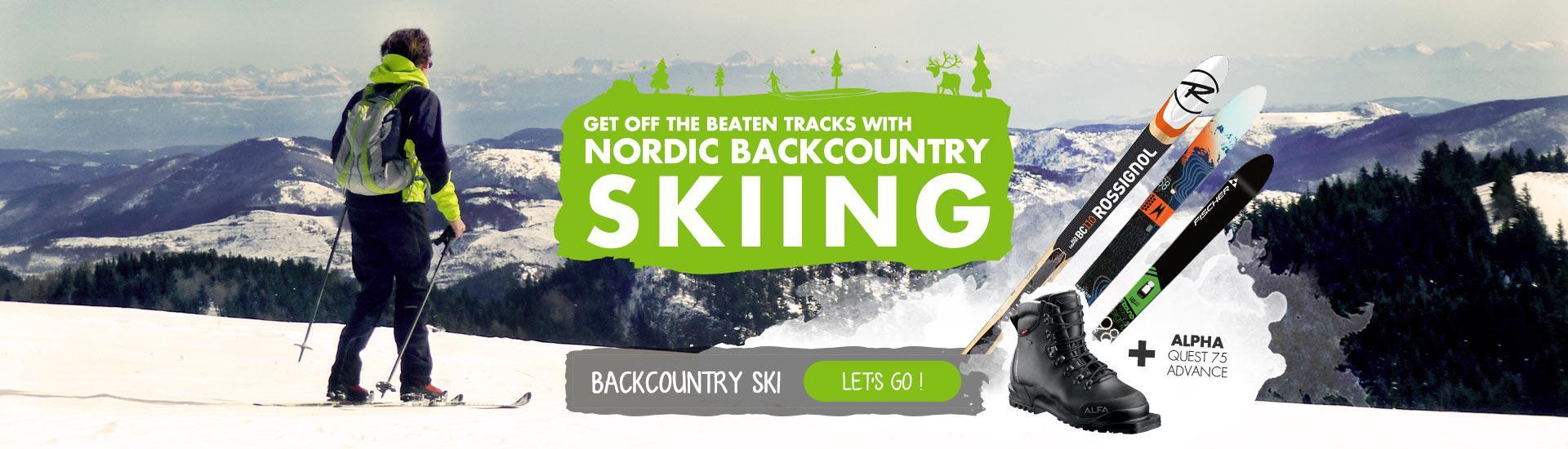 Backcountry ski !