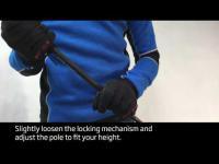 How to adjust length on Swix Sonic poles