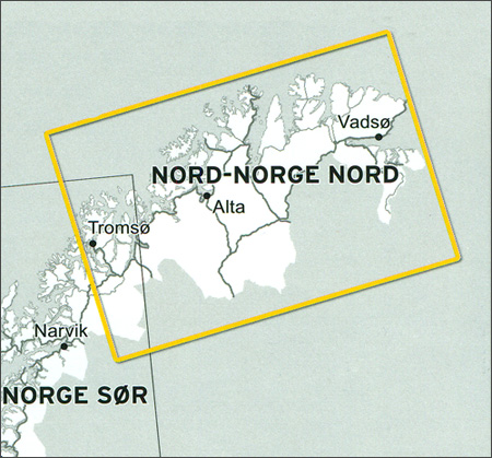 Veikart Nord-Norge Nord